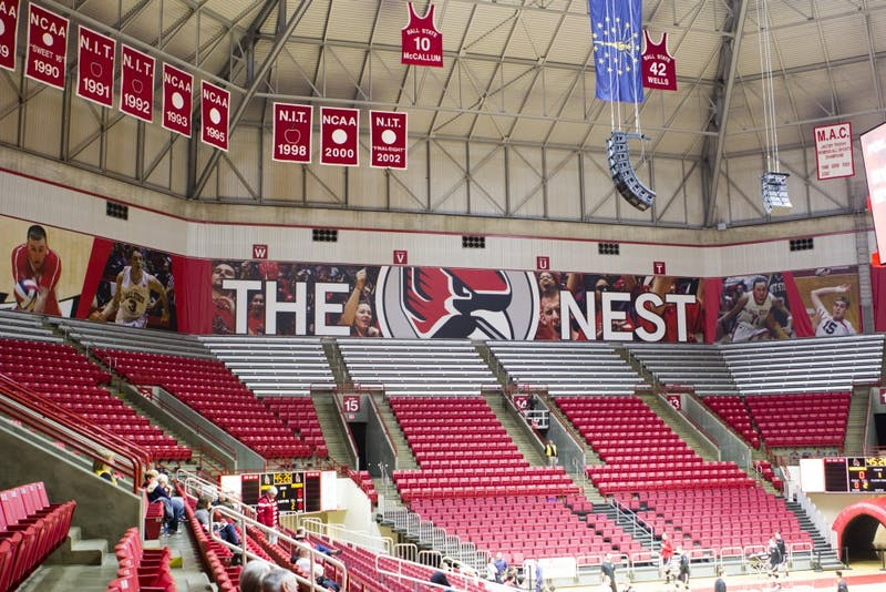 Worthen Arena will celebrate its 25th anniversary Saturday. In its first year, Ball State hosted the NCAA Men's Volleyball National Championship. Emma Rogers // DN
