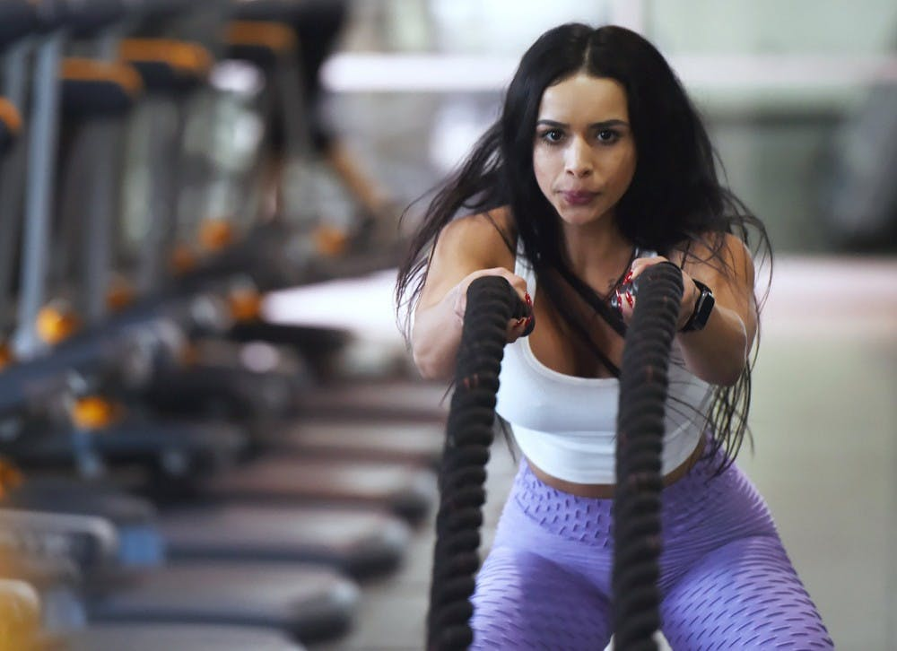 A woman works out in the gym for 30 minutes as apart of her goal. Many people stray from their New Year's resolutions, but there are many ways to get back on track. Eric Paul Zamora, TNS