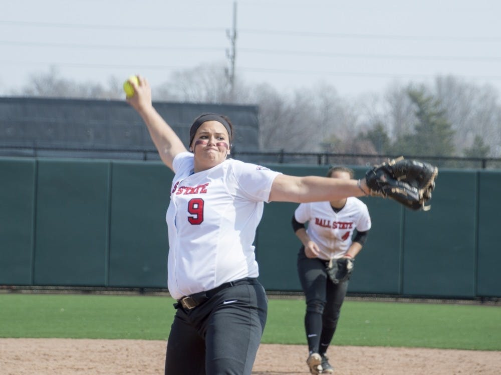 Senior Nicole Steinbach pitched 157.1 innings this season, more than the rest of the Ball State softball pitching staff combined.