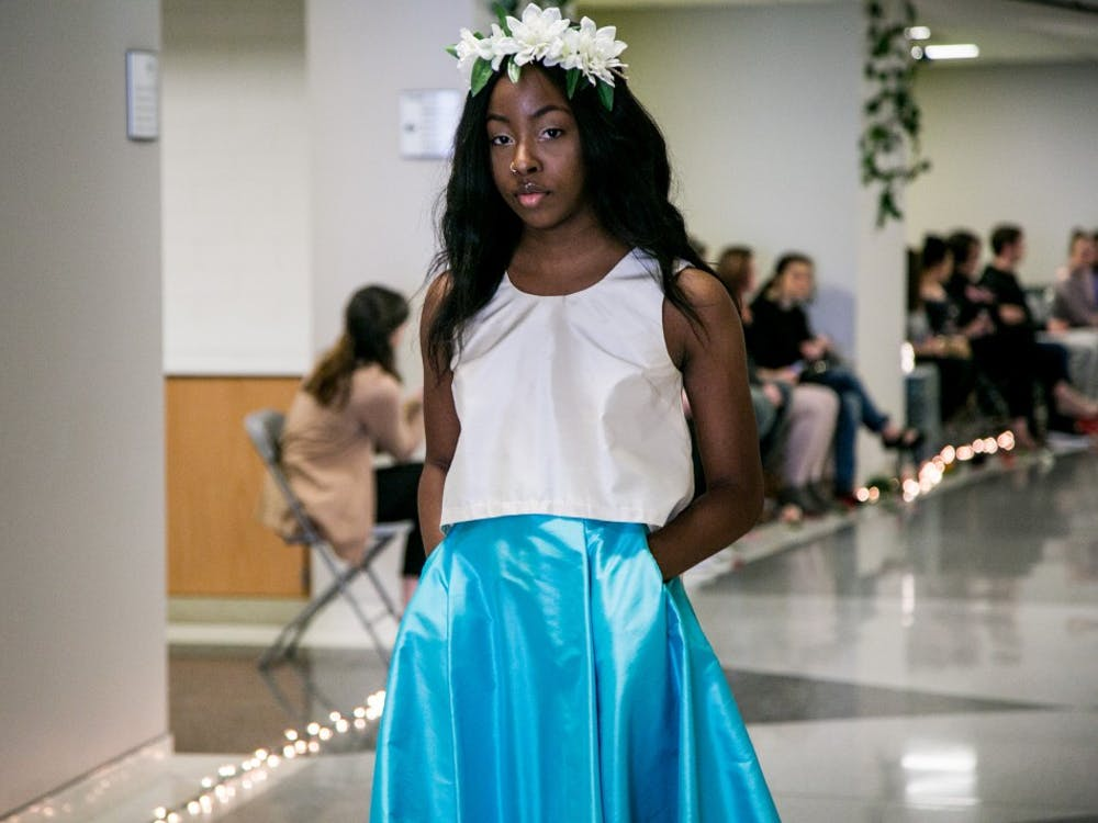 Fashion Design Society held their 2018 fashion show, Fashion Faerie Tale, April 7 in Applied Technology. All of the garments featured were handmade by Ball State Apparel and Design and Fashion and Merchandising students.