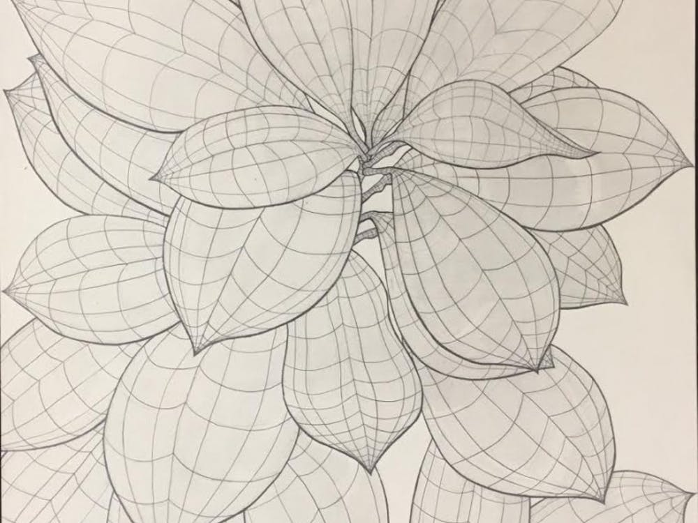 Students can feature their artwork inspired by the Joe and Alice Rinard Orchid Greenhouse starting Friday until April 28. Nicholas May, a Ball State sophomore, will have his work featured in the show. Nicholas May, Photo Provided