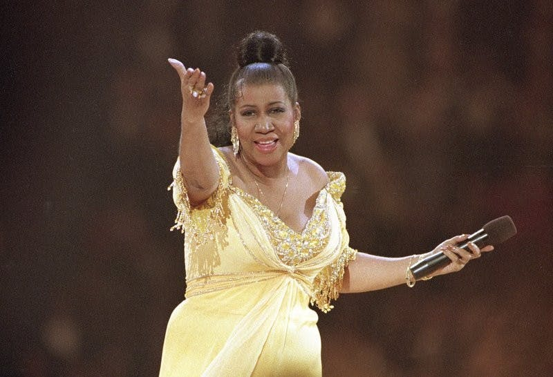 FILE - In this Jan. 19, 1993 file photo, singer Aretha Franklin performs at the inaugural gala for President Bill Clinton in Washington. Franklin died Thursday, Aug. 16, 2018 at her home in Detroit. She was 76. AP Photo, Photo Courtesy