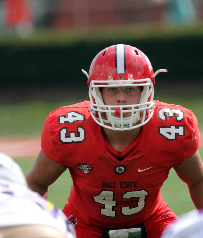 Ball State freshman linebacker honed his reflexes on the soccer pitch