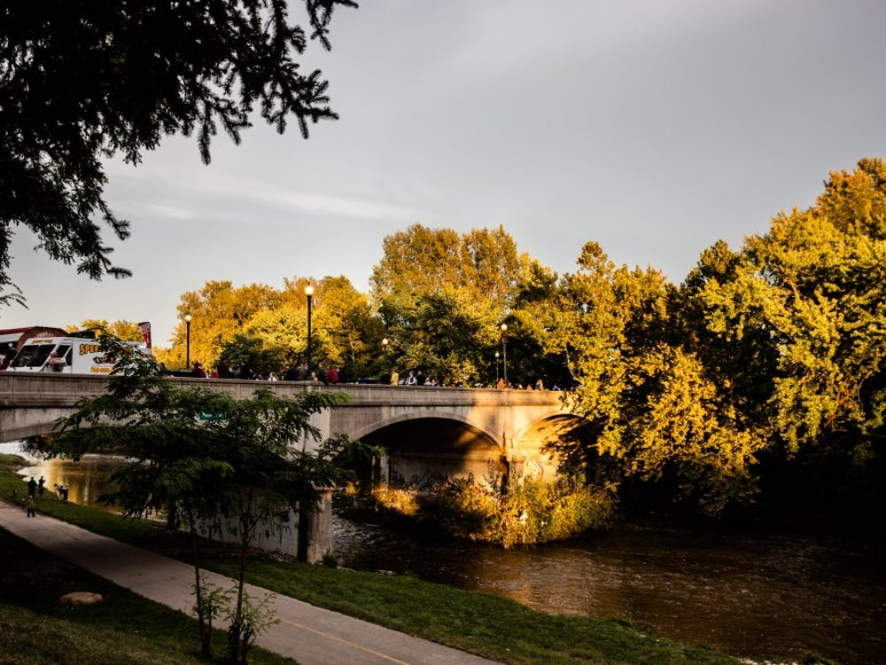 Muncie's Bridge Dinner welcomes over 900 guests to enjoy the evening at the Washington Street Bridge Sept. 27, 2018.  The dinner's goal is to engage the community with one another, the town and local vendors. Madeline Grosh,DN