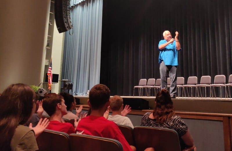 Hypnotist Dan Larosa performs for students at Ball State