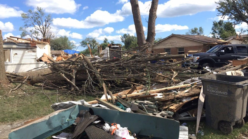 <p>On Wednesday, an EF3-grade tornado tore through Kokomo. The storm damaged hundreds of homes and left thousands of people without power. At least 22 tornadoes hit Indiana, with as many as eight in the Kokomo area. <em>Noah Jeffries // Photo Provided</em></p>