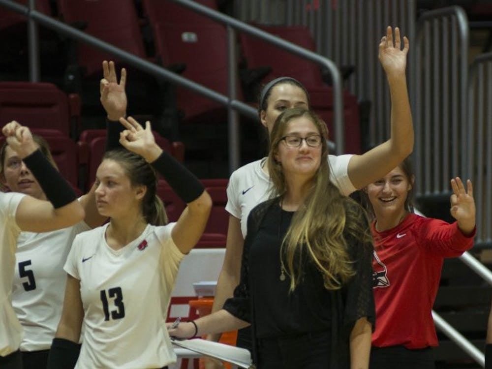 Ball State's womens volleyball team played Bowling Green on Oct. 20 in John E. Worthen Arena. The Cardinals won 3-1.