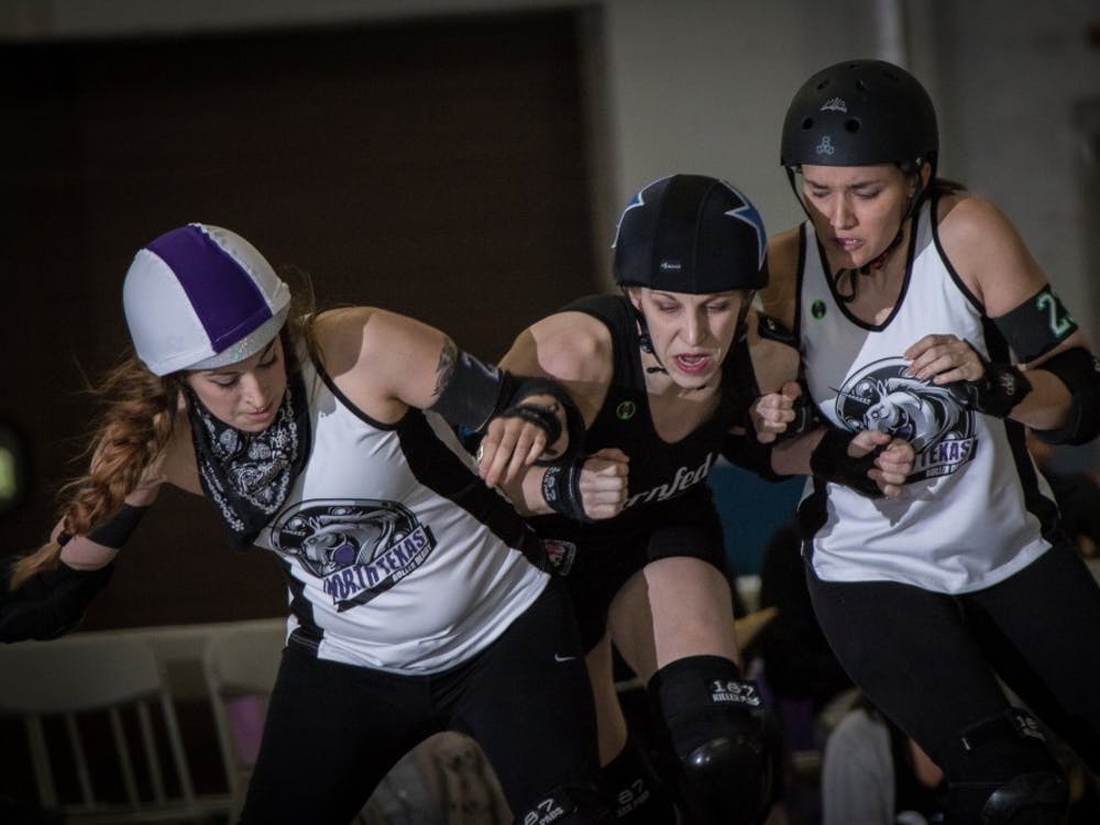 The Cornfed Derby Dames compete in a derby game. CFDD is ranked 123 of 339 leagues on a national scale and have over 40 active members. Matt Ruddick, Photo Provided