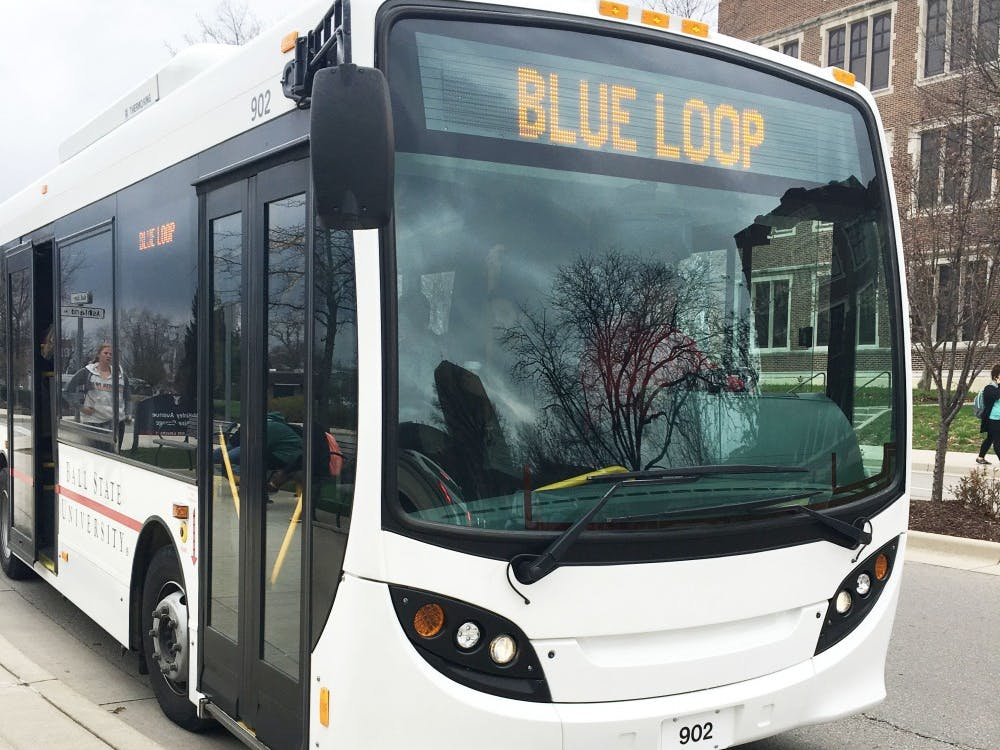 The Student Government Association is thinking of extending the blue loop. The blue loop extension bill would allow for the blue loop university shuttle buses to run year-round on campus rather than only being available from January until the end of spring break. Michelle Kaufman // DN