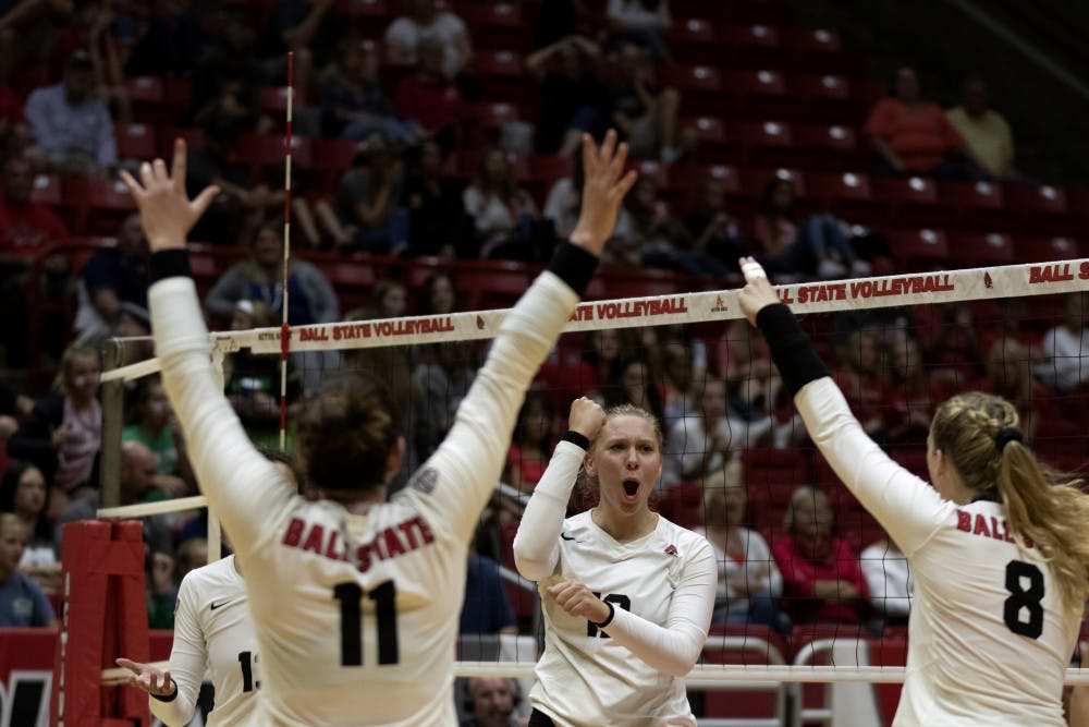 Ball State Women's Volleyball starts road trip with win over Western Michigan