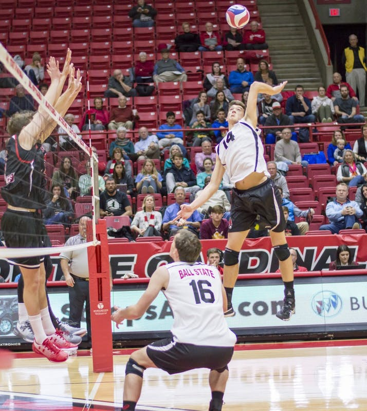 RECAP: Ball State men's volleyball sweeps Saint Francis in 3 sets