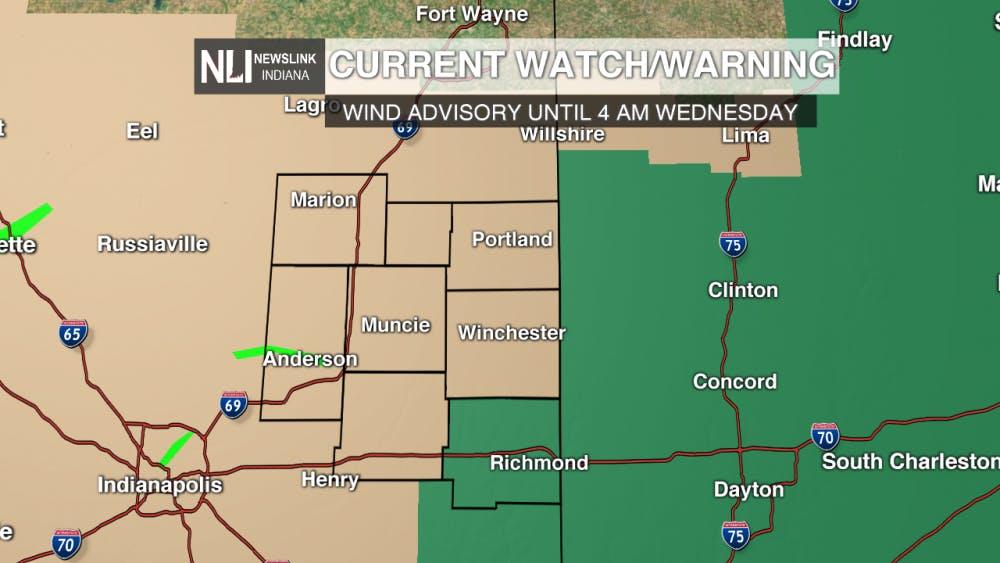 Wind Advisory today and tonight