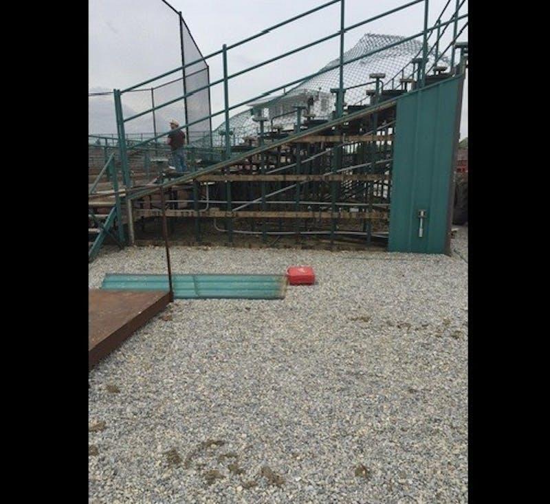 Offseason renovations begin at Ball Diamond