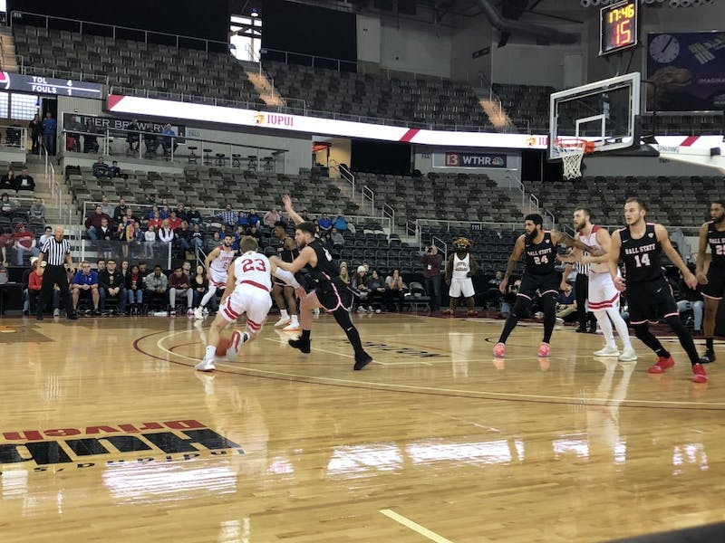 Ball State Men's Basketball wins tight game in Indianapolis