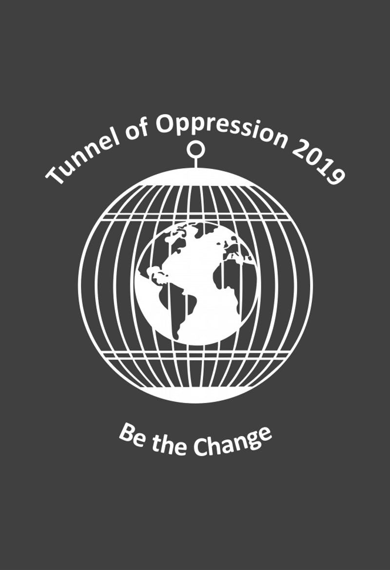 The Tunnel of Oppression, an annual event during Unity Week, was held Thursday, Jan. 24 in the L.A. Pittenger Student Center Ballroom. Some of the exhibits dealt with issues like homophobia, sexual assault and racism. Drew Leininger, Photo Provided.