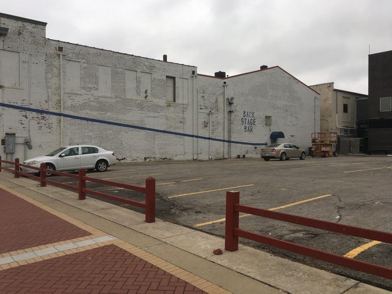 "The We're Trying Collective and Muncie community will be painting a ""love note"" to the city of Muncie on the side of the Mark III Taproom this Saturday, May 13. Andrew Harp // DN File"