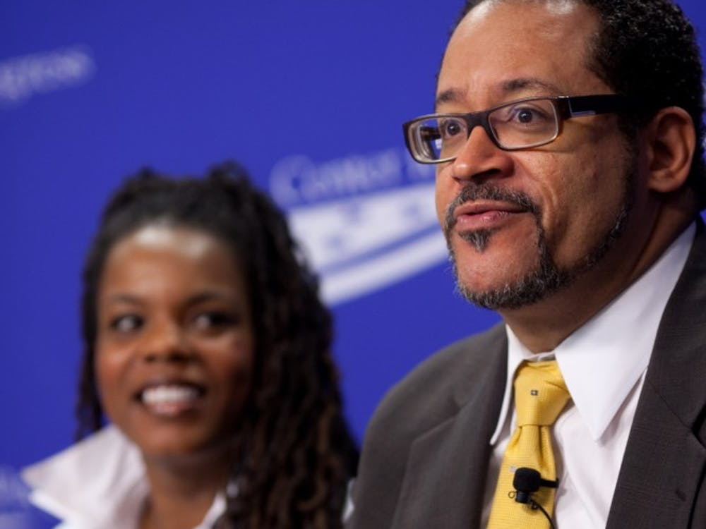 Dr. Michael Eric Dyson speaking for Center for American Progress June 22, 2010. Dyson has written and edited more than 20 non-fiction books on race relations and popular culture and has spoken on several media outlets and stages. Center for American Progress, Photo Courtesy