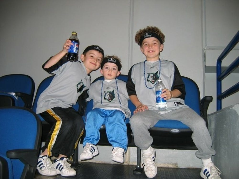<p>Timothy, Joey and Tommy Wiseman enjoy some quality time together early in their childhood. The three competed in a number of sports during their youth before landing on golf as their sport of choice. Timothy Wiseman, Photo Provided. </p>