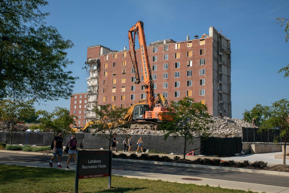Alumni reflect as LaFollette demolition is nearly complete