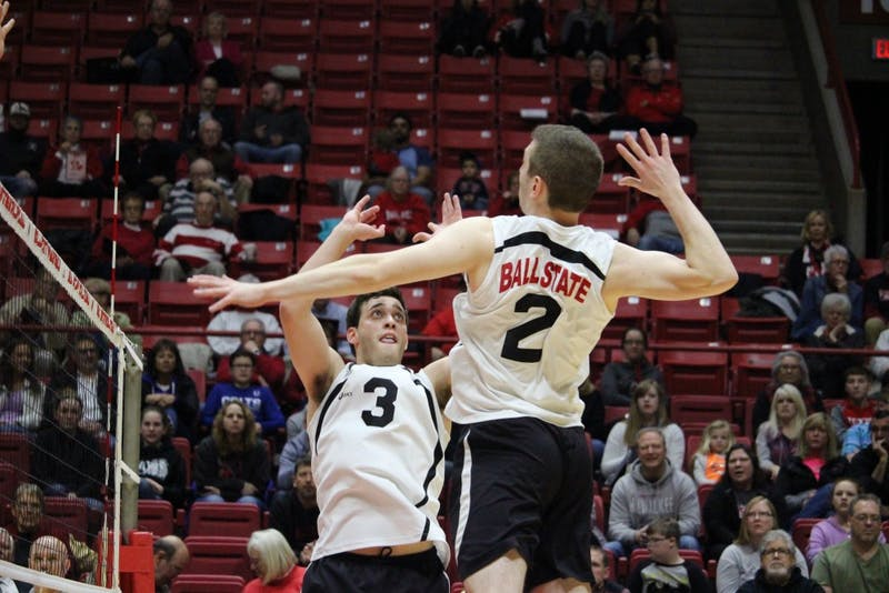 No. 12 Ball State men's volleyball rallies in 2 come-from-behind wins