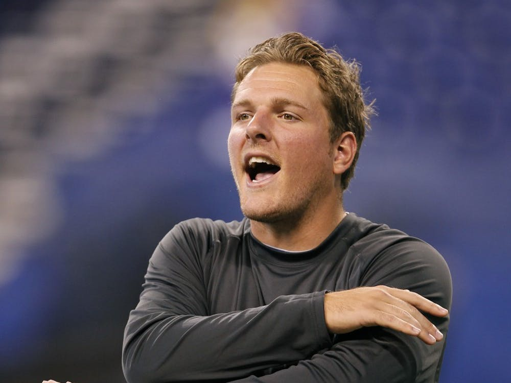 Indianapolis Colts punter Pat McAfee (1) warms up before the Colts game against the Vikings on Sunday, September 16, 2012, in Indianapolis, Indiana. (Sam Riche/MCT)