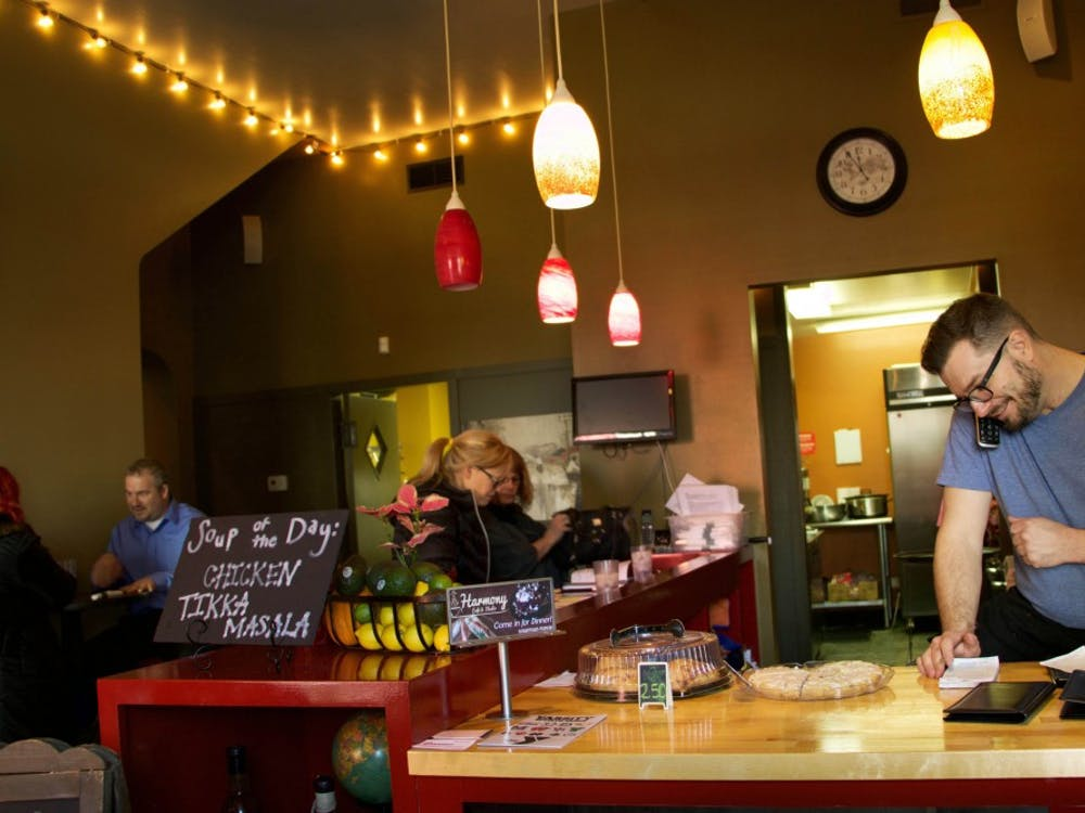 Derek Manson has worked at Harmony Café since they first opened in June 2017 in Muncie, Indiana Jan. 18, 2018 (NEWS 397/Mara Semon).