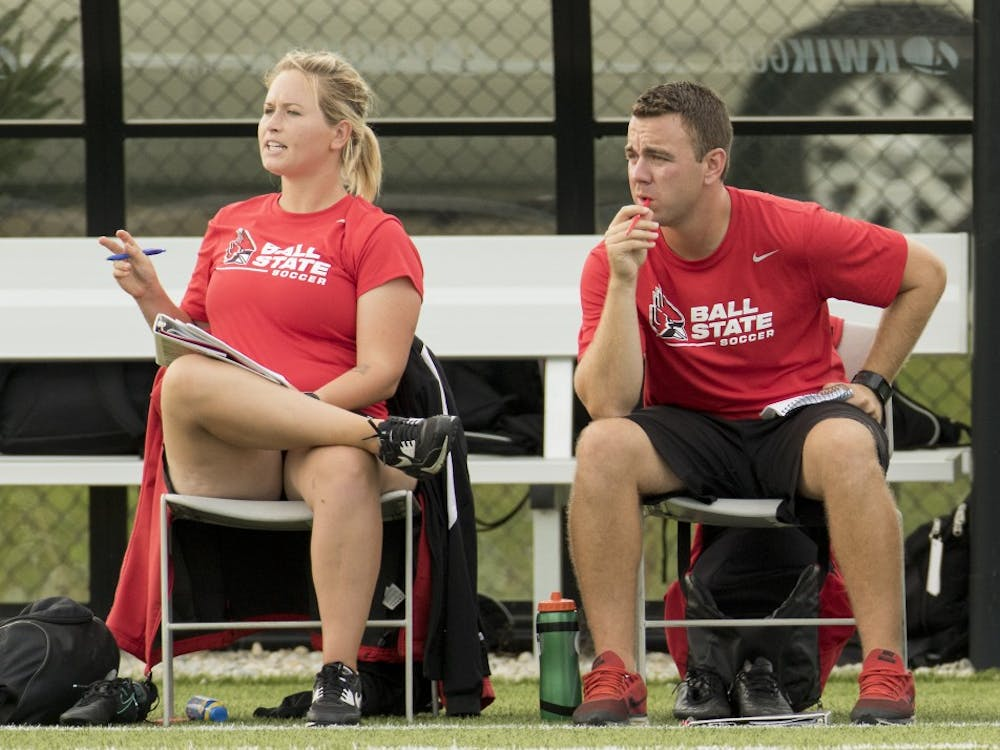Lauren Arnold and Steve Shelton will be the new assistant soccer coaches at Ball State. The Cardinals are 4-0-1 and will play in Northridge, California, on Friday. Ball State Athletics // Photo Provided