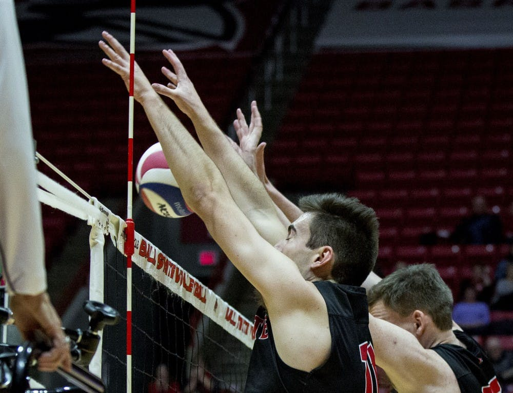 Szews' offense lifts No. 13 Ball State Men's Volleybal over No. 12 Ohio State in MIVA opener
