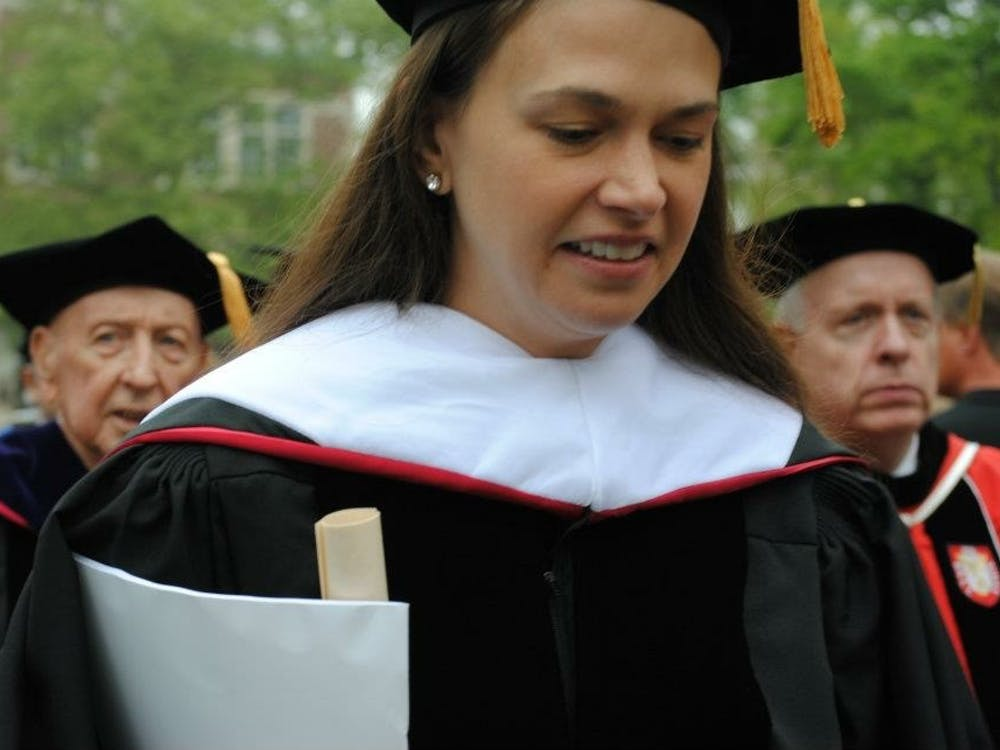 """Sutton Foster, a Broadway and television actress and Tony Award winner, will be coming to Muncie in the spring to co-direct Ball State's production of """"Shrek: The Musical."""" Foster received an honorary doctorate degree from Ball State in 2012 and gave the spring commencement address. Samantha Brammer // DN File"""