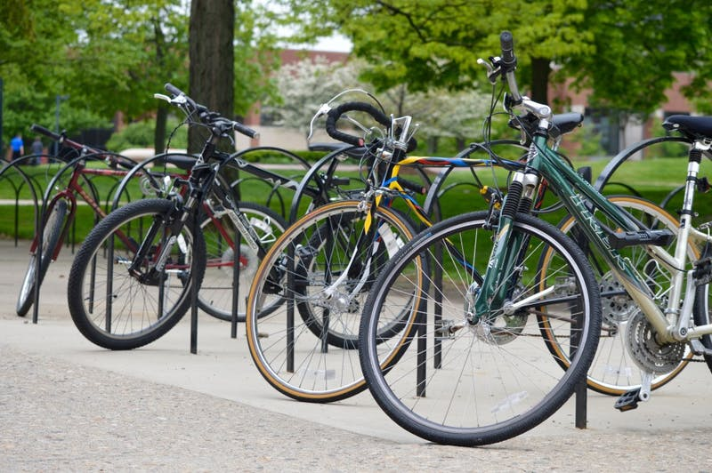The university recently began the process of creating a more bike accessible campus. They are working on improving campus mobility and connections to the areas around campus. Rebecca Kizer, DN File