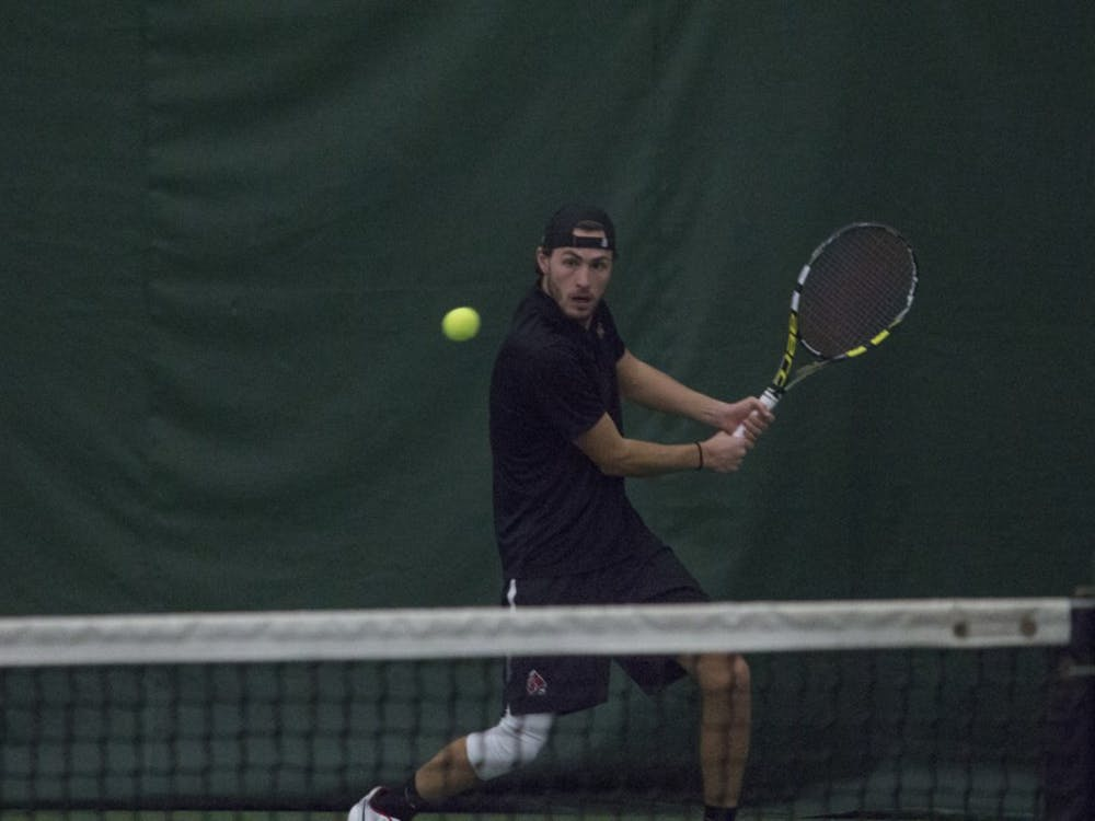 Ball State men's tennis played Eastern Illinois on Jan. 20 at the NWYMCA. The Cardinals won 6-1.