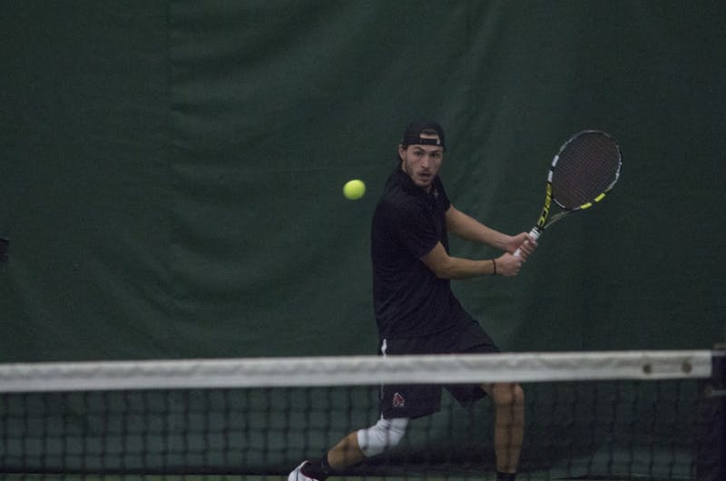 Men's tennis returns to home court to preserve perfect home record