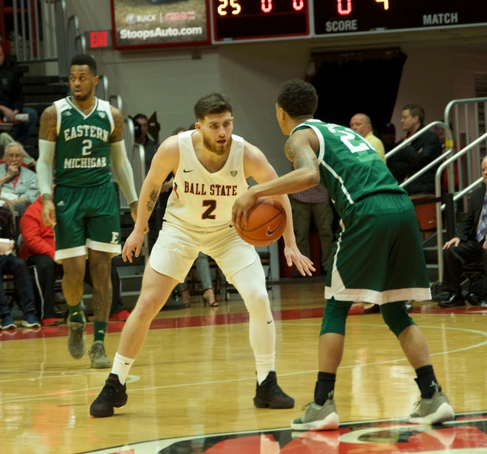 Big momentum swings hand Ball State Men's Basketball double overtime loss to Eastern Michigan
