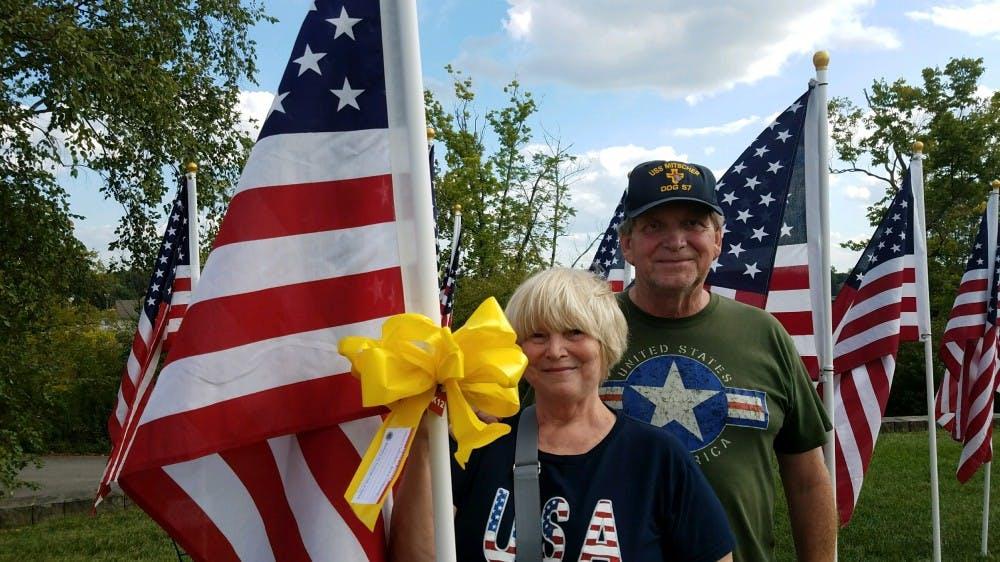 Muncie Exchange Club plants 1,000 Flags of Honor