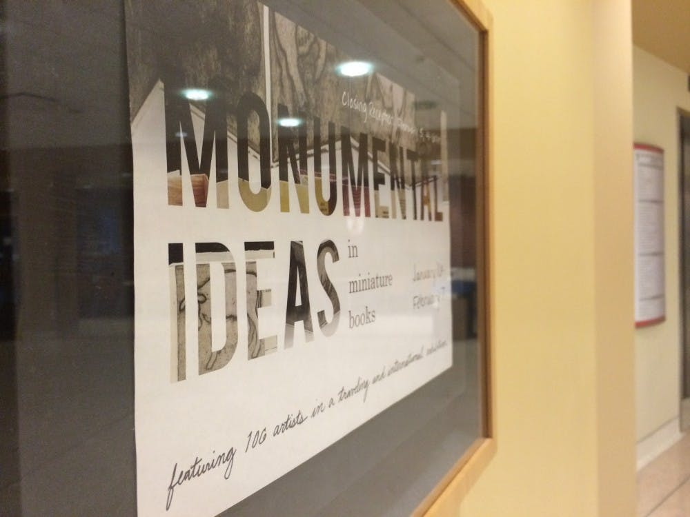 The Monumental Ideas in Miniature Books exhibit features the work of 106 artists from around the world including Ball State art professors David and Sarojini Johnson. DN PHOTO DANIELLE GRADY