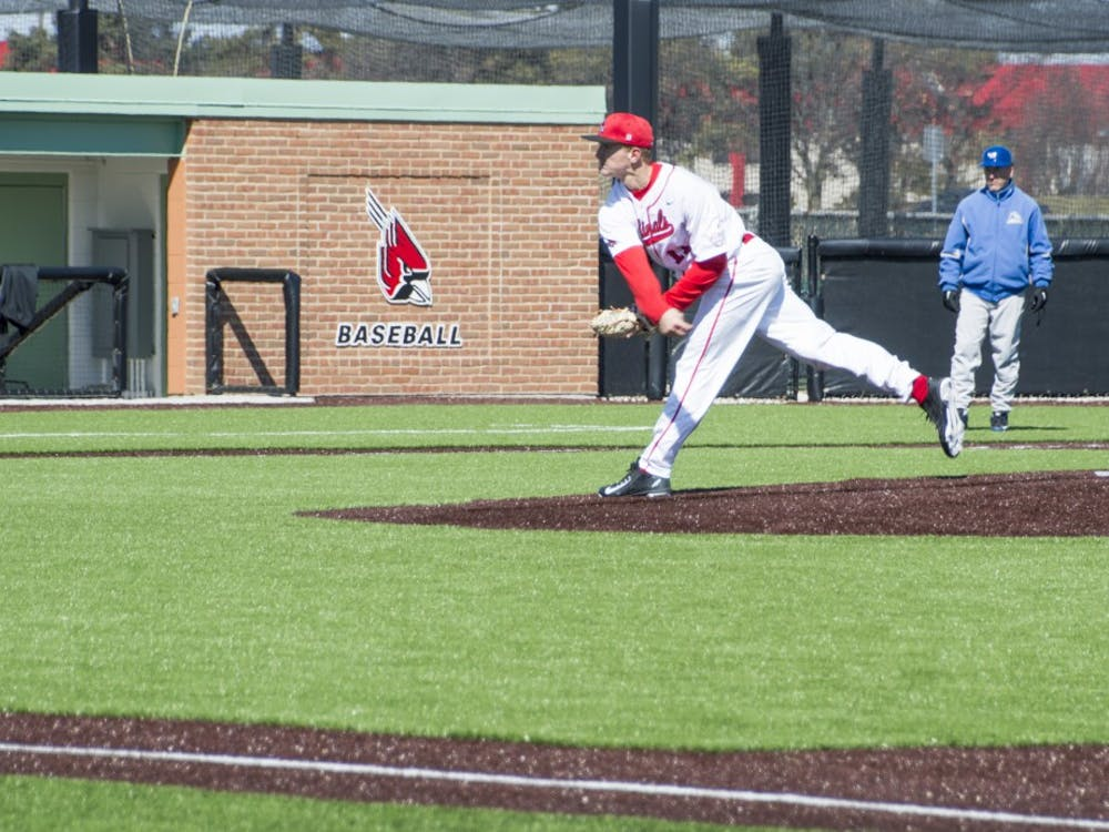 The Ball State baseball team defeated Buffalo in the first game of the double header on March 28.