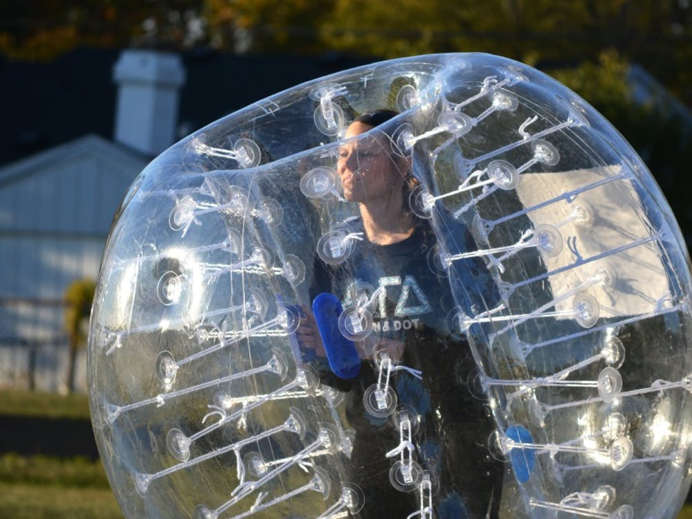 Teams went head-to-head on Oct. 14 at Northside Middle School for Kickin' it with Kappa Delta and Lambda Chi Alpha, Ball State's first bubble soccer tournament.