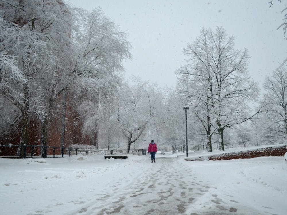 A student walks past the Bracken Library during the afternoon of Jan. 5. DN PHOTO BREANNA DAUGHERTY