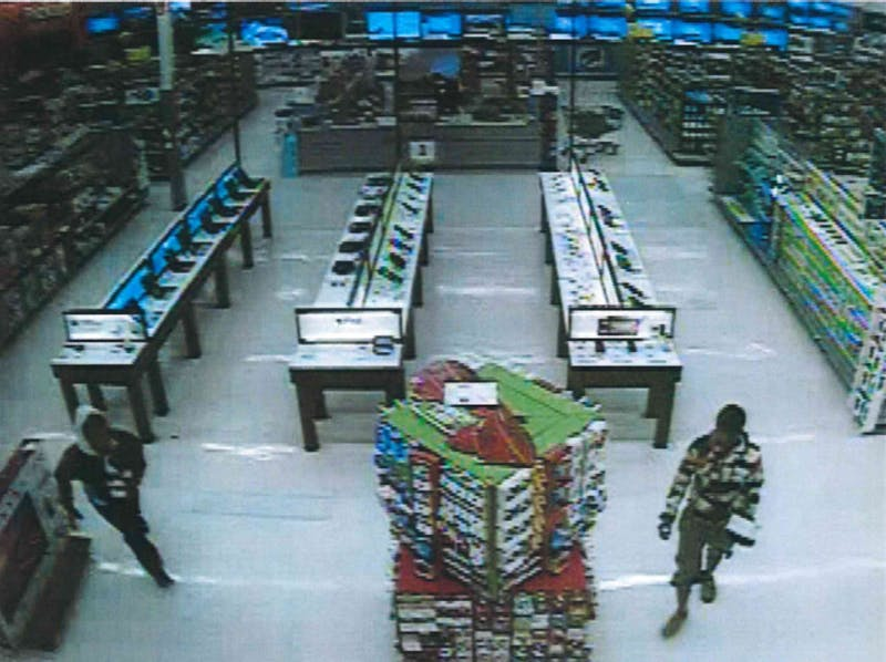 Muncie Police are seeking the public's help in identifying two suspects who robbed a Muncie Walmart early Monday morning. Anyone with information is asked to call Muncie Crime Stoppers. Photo provided, Muncie Police Department