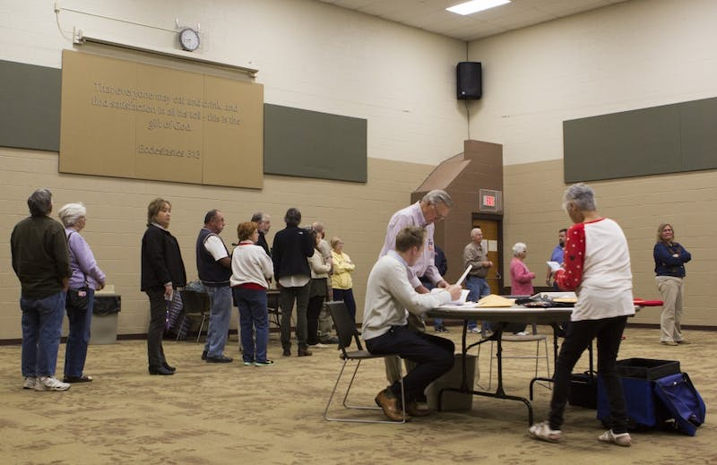 High numbers in early voting results in shorter lines at polls