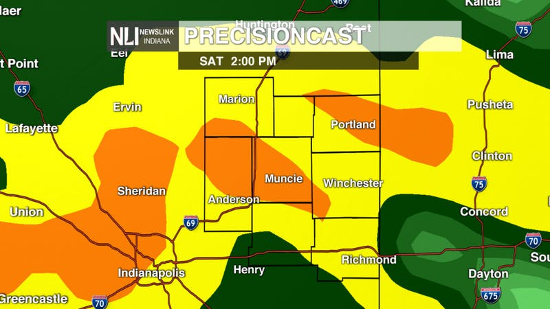 Heavy rain for your weekend