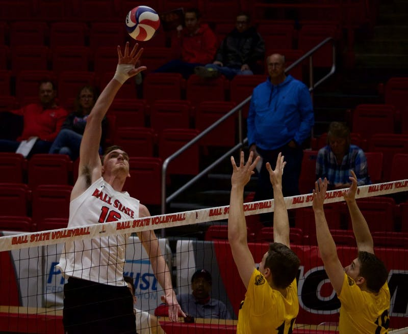 Dorgan shines in starting role, No. 12 Ball State men's volleyball sweeps Quincy