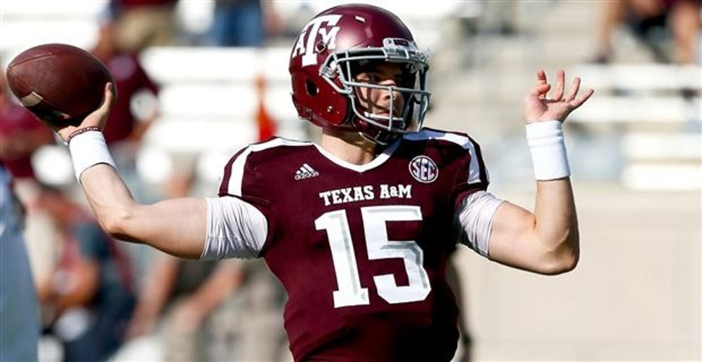 <p>Sophomore quarterback Hank Hughes transferred from Texas A&amp;M to pursue his dream of playing college football. Hughes is currently third on the depth chart. <strong>247Sports, Photo Courtesy</strong>&nbsp;</p>