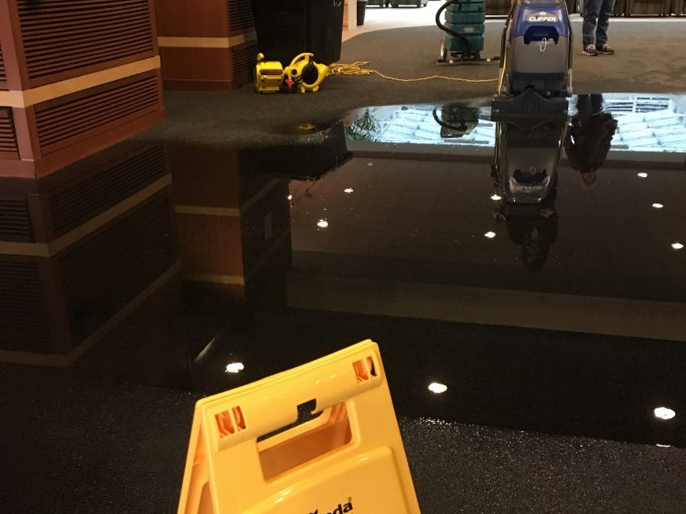 A flooding was reported around 5 p.m. Thursday in DeHority Complex. The flooding occurred in the doorways of the residence hall's main entrance. Rohith Rao, DN