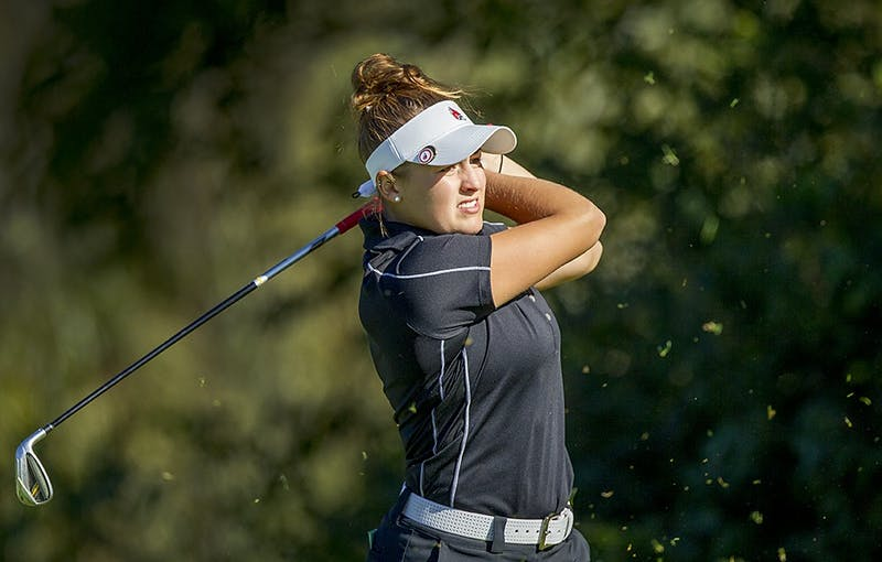 Lindley, Sear lead women's golf recent success