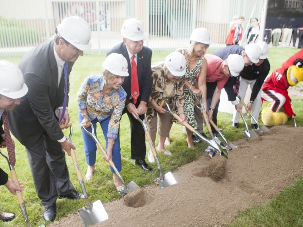 The ground breaking for theRonald and Joan Venderly Football Complex took place on June 19.