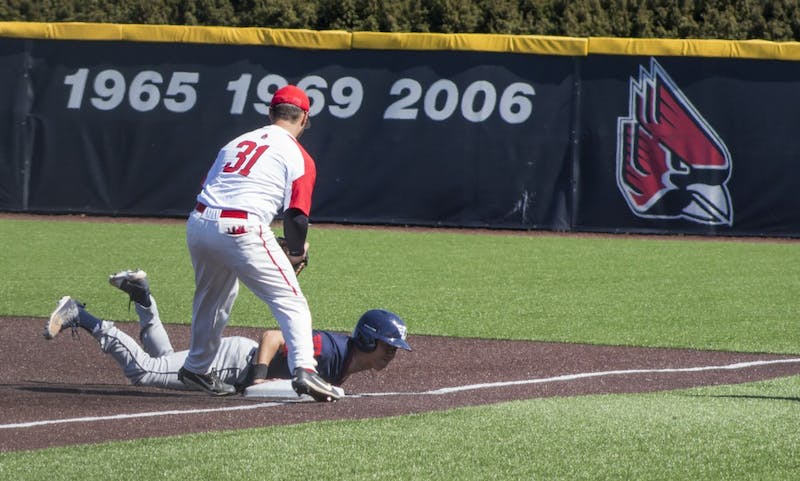 Messina, Ball State Baseball pile it on, even series with Dayton