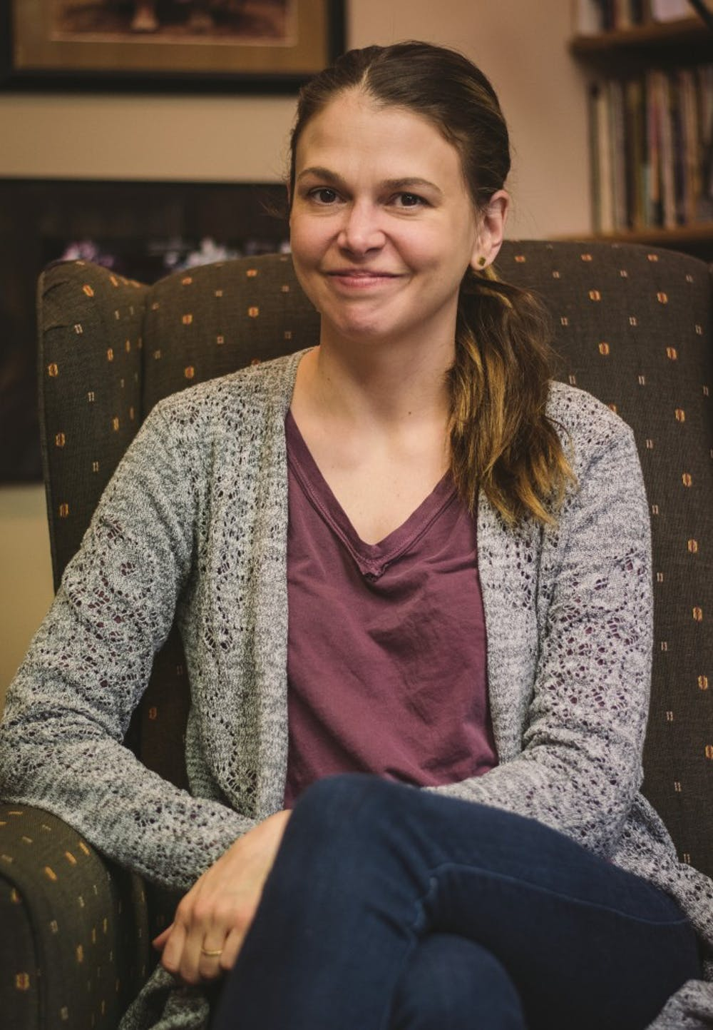 """<p>The Department of Theatre and Dance has had&nbsp;a 12-year relationship with actress Sutton Foster. Foster, who was in Muncie from Feb. 19 to 23 to work on the production of&nbsp;""""Shrek the Musical,"""" considered attending Ball State because of her mother's love for alumnus David Letterman. <em>Samantha Brammer // DN</em></p>"""