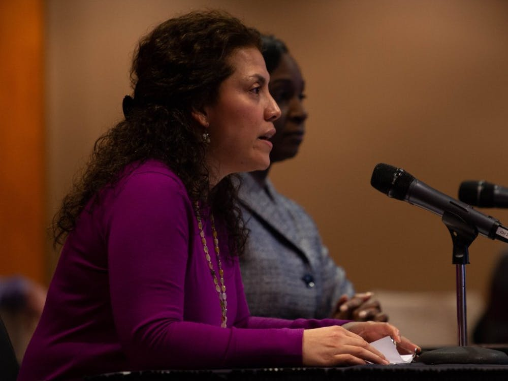 Susana Rivera-Mills, Ball State's Provost and executive vice president for academic affairs, reports to the Board of Trustees Feb. 8, 2019. Rivera-Mills began her job as Provost July 1, 2018. Scott Fleener, DN