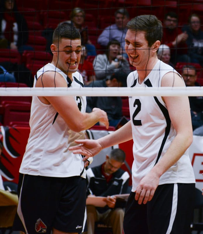 Offense struggles in 2 road losses for No. 11 Ball State men's volleyball